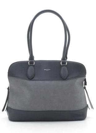 Женская сумка d. jones 5616-2 серая