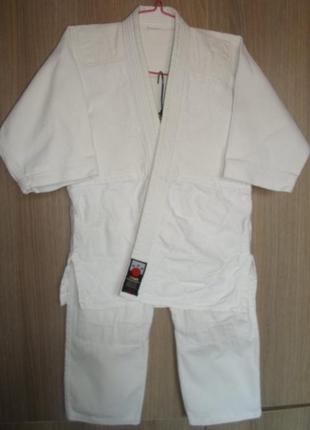 Подростковое кимоно жесткое дзюдо размер 130