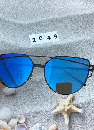 Солнцезащитные очки, цвет линз голубой