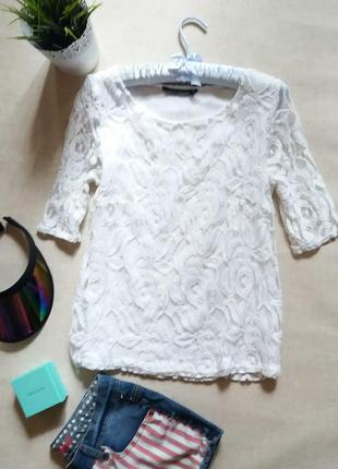 Кружевная блуза с подкладом
