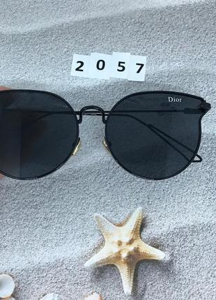 Солнцезащитные очки, цвет линз и оправы черный