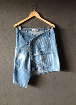 Джинсовая юбка оригинальный крой дизайн мода стиль тренд 2017