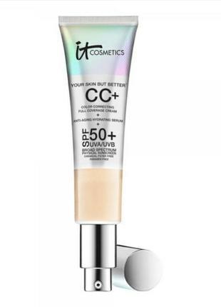 Нежный омолаживающий тональный крем it cosmetics cc+ cream with spf 50+