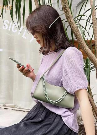 Стильна сумочка 2021 трендова сумка хит1 фото