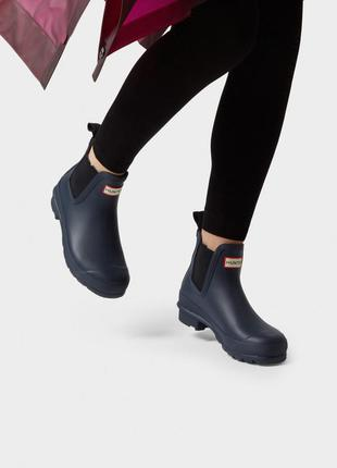 Резиновые сапоги hunter chelsea rain boots челси crocs оригинал!