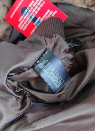 Брендовая стильная мягкая меховая куртка с капюшоном h&m этикетка5 фото