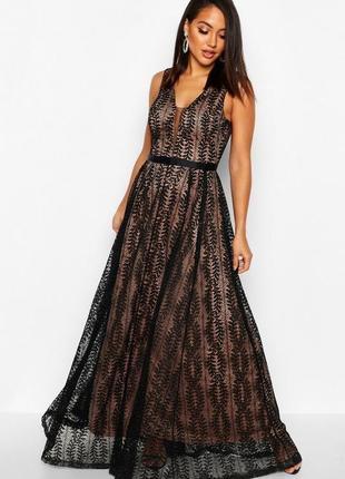 Платье вечернее кружевное макси asos
