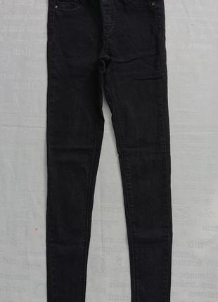 Базовые джеггинсы pull&bear, джинсы skinny, черные, р.xs-s