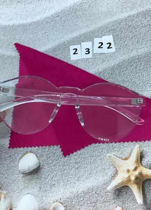 Прозрачные очки без оправы