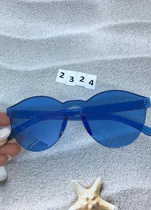 Синие очки бе оправы