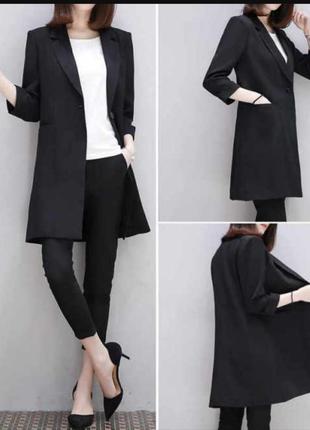 Длинный деловой пиджак,блейзер,пальто- пиджак,шерсть