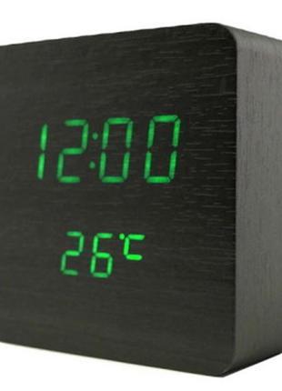 Електронний цифровий годинник vst-872 black часы будильник
