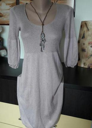 Нежное платье с люрексовой нитью