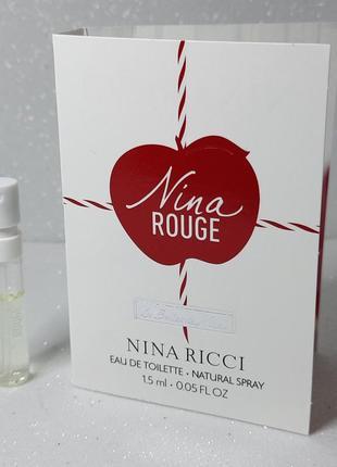 Nina ricci les belles de nina rouge туалетная вода