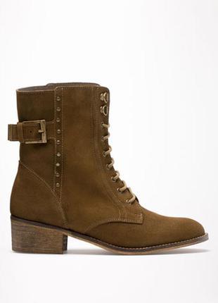Кожаные сапоги ботинки бершка испания