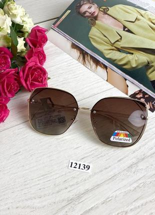 Коричневые солнцезащитные очки линза polarized