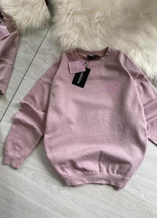 Пудровый нежно-розовый свитшот