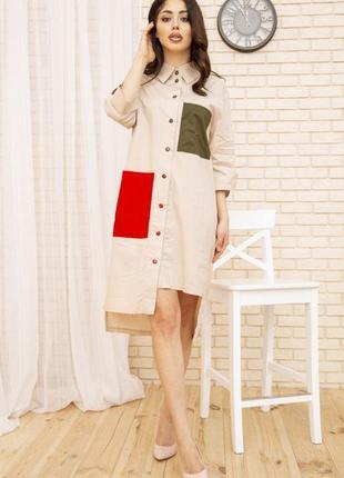Стильная рубашка свободная платье для стильной - l xl