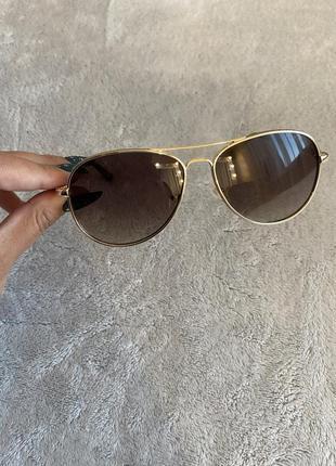 Оригинальные очки авиаторы guess с блестящей оправой