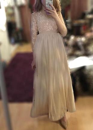 Платье из кружева длинное вечернее выпускное