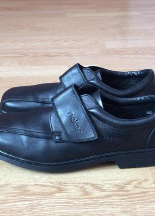 Кожаные туфли rieker 44 размера в идеальном состоянии