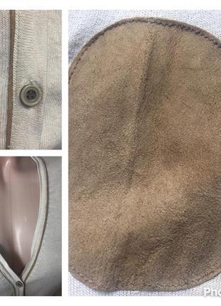 Джемпер натуральный шелк+кашемир+хлопок с нашивками на локтях5