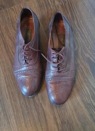 Мужские кожанные туфли с италии