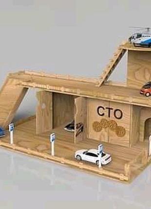 """Іграшковий комплекс """"паркінг, сто, автомийка, азс, вертолітна площадка"""""""