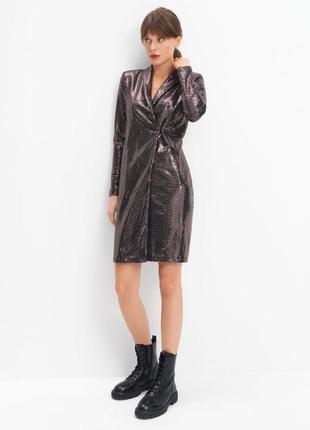 Платье пиджак в пайетках