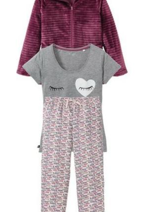 Пижама домашний костюм тройка (3 предмета)esmara германия