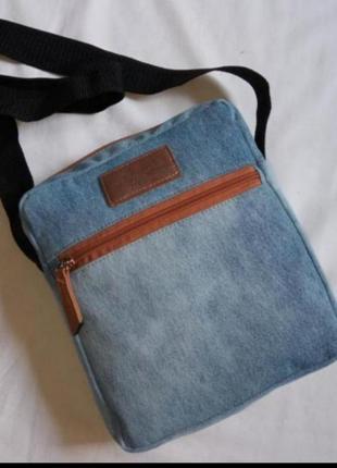 Джинсовая сумка через плечо+подарок