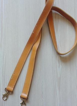 Длинный ремень ручка на сумку кожа софьяно фурнитура золото