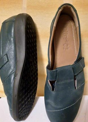Женские кожаные туфли, балетки, слипоны, мокасины hotter на липучке мэри джейн 39р.