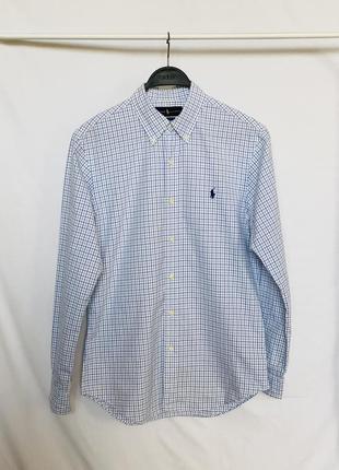 Белая рубашка в клетку polo ralph lauren оригинал