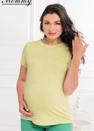 Летняя футболка для беременных мам