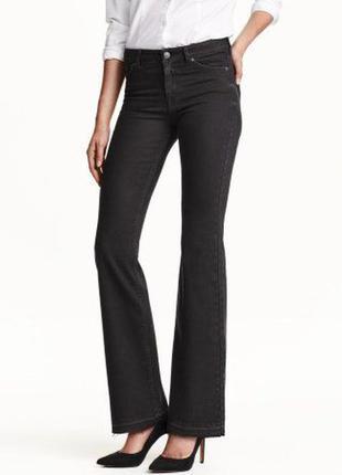 Актуальные джинсы с необработанными краями и высокой посадкой h&m
