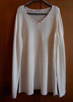 Пуловер со стразами bonprix, новый, большой размер