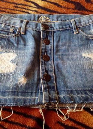 Джинсовая юбка ann christine