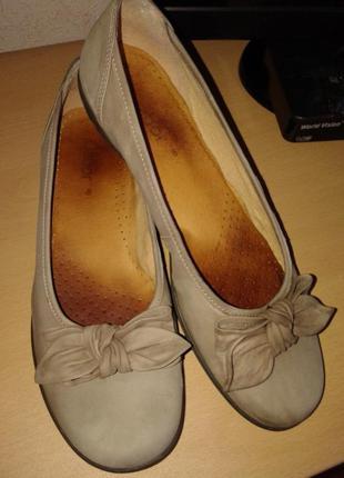 Полная распродажа!!! кожаные мягусенькие туфли балетки от gabor, 28 см