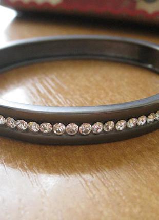 Браслет/серый браслет/серебристый браслет/женский браслет/стразы
