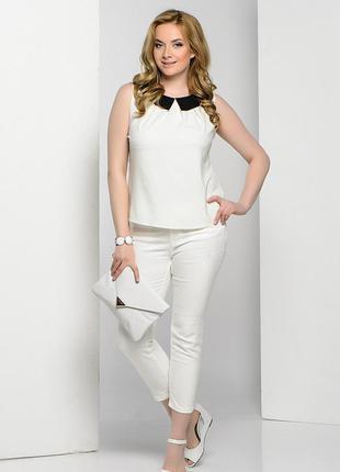 Новые белые женские брюки зауженные mexx xl/xxl