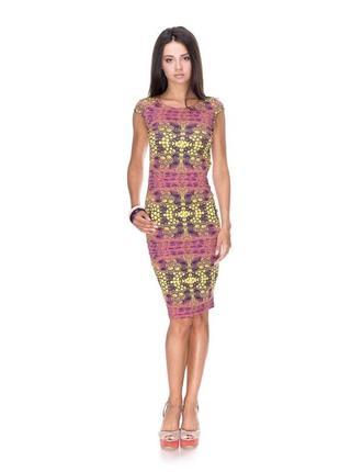 Летнее платье, платье разноцветное, силуэтное платье.