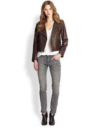 Новая шикарная кожаная курточка из кожи ягненка ( косуха) дорогого бренда etro milano