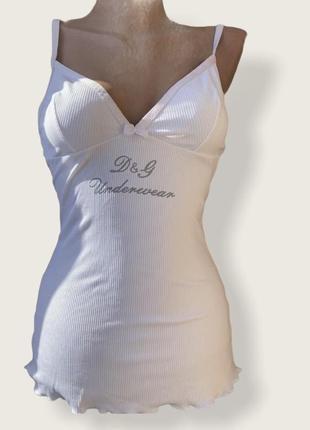 Женская  майка d&g оригинал, майка для сна и дома , брендовых топ