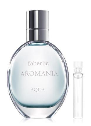 Пробник туалетной воды для женщин aromania aqua 34114 faberlic