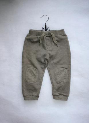 Спортивные штаны хаки теплые фирмы bhs на мальчика рост до 86 см 12-18 месяцев