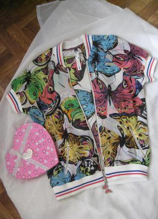 Футболка/женская футболка/разноцветная футболка/кофта на замке/белая футболка