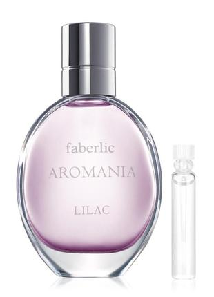 Пробник туалетной воды для женщин aromania lilac 34112 faberlic