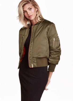 Новая куртка-бомбер  h&m