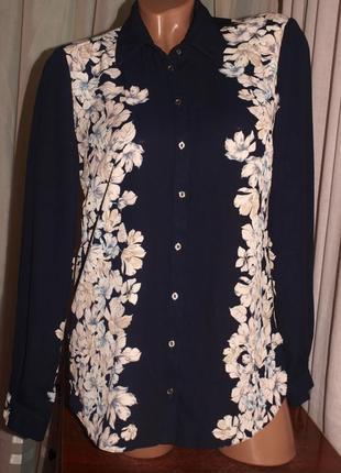 Шикарная блуза (м замеры) узор на 2 стороны, лёгкая, превосходно сомтрится
